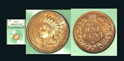 1888 1c -nice Pure Red Color Indian Head Cent
