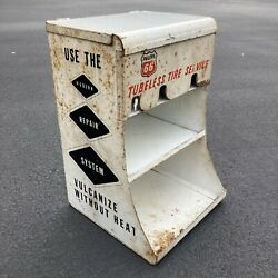 Vintage 1960s Phillips 66 Gas Station Tubeless Tire Service Auto Parts Display
