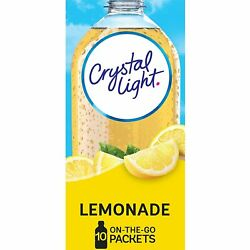 Crystal Light Sugar-free Lemonade Drink Mix 120 On-the-go Packets 12 Packs Of