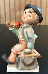 Hummel Figurine The Merry Wanderer 7/0 1956-1959 Boy With Bag And Umbrella