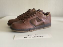 Vintage Ds Brand New Nike Dunk Pure Leather From 2005 - Og All - Japan Exclusive