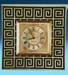 Large Mid-century Modern Vintage General Electric Gold Gilt Wall Clock