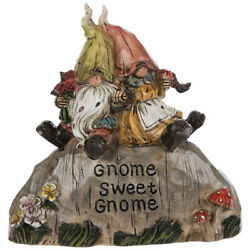 Gnome Sweet Gnome Garden Stone With Relaxing Gnomes