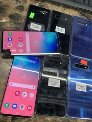 Samsung Galaxy S10 + Plus Cracked Bad Lcd Clean. Needs New Screen Atandt