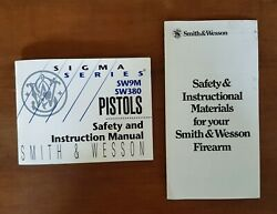 Nos Smith And Wesson Manual For Sigma Series Sw9m And Sw380 Pistols Dated 3/96