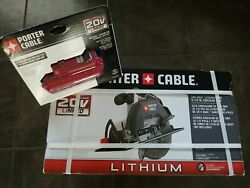 Porter Cable Circular Saw With Compact Battery
