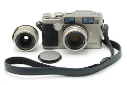 【mint】contax G2 Rangefinder Film Camera 35mm F/2 28mm F/2.8 Lens From Japan