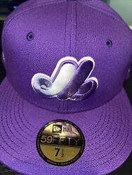 7 1/2 Montreal Expos 1982 All Star Game Lavender Bottom Fitted Hat