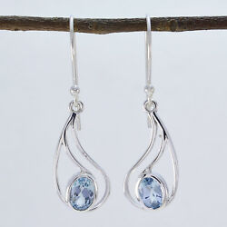 Excellent Blue Topaz 925 Sterling Silver Blue Natural Jewelry Us Gift