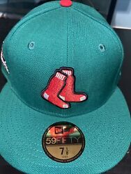 7 5/8 Boston Red Sox Kelly Green 2013 World Series Champs Pink Bottom Fitted Hat