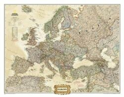 Europe Executive [enlarged And Laminated] National By National Geographic Maps