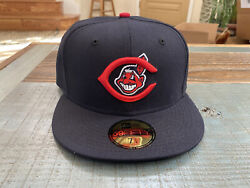 Cleveland Indians 1954-1957 Logo Chief Wahoo New Era Fitted Green Bottom 7 1/4