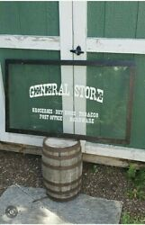 General Country Store Sign Dry Goods Tobacco Post Office Hardware Kitchen Old