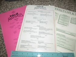 Lot Of Vintage Maxwell's Cafe And Grill Menus Restaurant