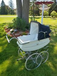 Vintage 1950s Baby Carriage Buggy Stroller Bilt Rite Cadillac