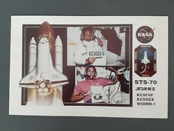 Nasa 🚀 Space Shuttle Discovery Sts-70 🚀rare Ham Amateur Radio Qsl Contact Card