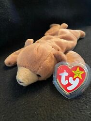 Ty Beanie Baby Cubbie The Brown Bear W/pvc Pellets Brand New In Mint Condition