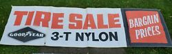 Vintage Goodyear Tire Advertising Banner / Sign, Early Gas Oil Collectible 92