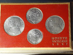 Vatican Set Of Lire Coins Annual Official Pope Pius Xii Year Ix 1947 Original