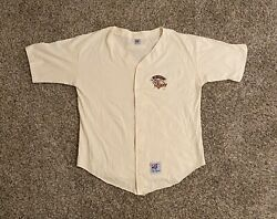Vtg Detroit Tigers Baseball Jersey Mens Xl Embroidered Spell Out Made In Usa