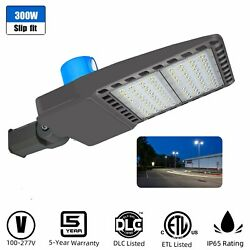 Outdoor Led Parking Lot Light Street Pole Fixture Dusk To Dawn Commercial 300w