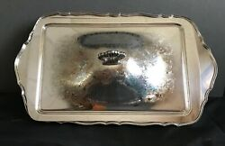 Primrose Plate Silver Plate Lidded Serving Tray/dish Footed Server Ep Brass Vtg