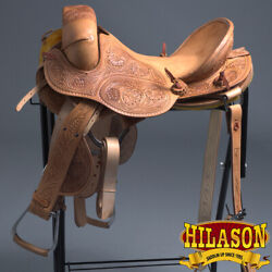 C-l-16 16 Hilason Classic Series Hand-made Rodeo Bronc American Leather Saddle