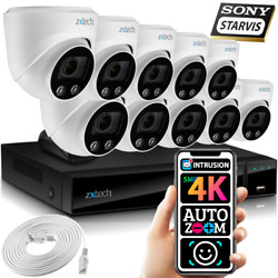 5mp And 8mp Ip Cctv Kit 10x Face Ai Sony Starvis Motorised Lens Security Cameras