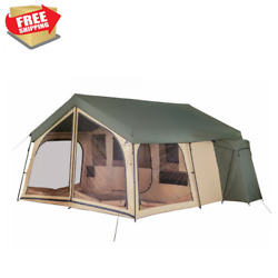 Camping Tent 14 Person 2 Room Cabin Outdoor Large Family Lodge