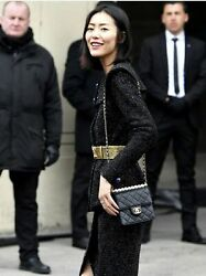 Chanel New 20c Mini Chic Pearls Quilted Flap Black Leather Cross Body Bag $5998.00