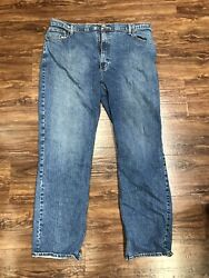 Arizona Men's Blue Jeans Flex Relaxed Straight Fit Size 42 X 34