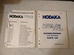 Hodaka Motorcycle Owners Manual And Parts List 709510a 250 Sl 70a