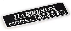 1949-1951 Chevy Heater Decal, Harrison 80-244798-1