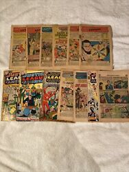 Dc Comics Lot Of 13 Coverless Justice League Of America 1 Thur 13 / 4 W Cover