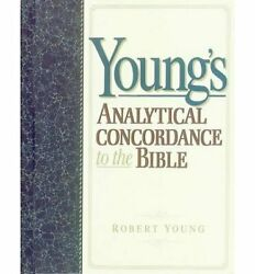 Young's Analytical Concordance To Bible By Robert Young - Hardcover Excellent