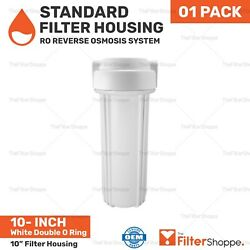 White Double O Ring Standards 10 Filter Housing For Ro Reverse Osmosis System