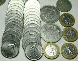 France 40x Pcs Bulk Of Pre-euro French Coins Lot Mostly 1960s-70s R9-55-147