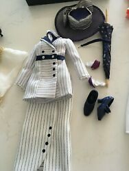 Franklin Mint Titanic Rose Doll Boarding Outfit Suit Shoesumbrellahat Andgloves