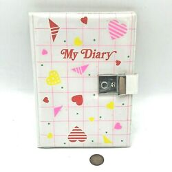 Vintage 1980s My Diary Book Plastic Foamed Top Cover Closing Diary No Key Retro