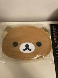 NWT New San X Rilakkuma Over Shoulder Face Bag Brown Pouch Purse Carry Round 1 $42.00
