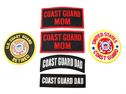 6 Coast Guard Mom Dad Retired Family Embroidered Patches Us Military Biker