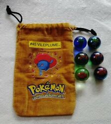 Pokemon Marbles And Rare 45 Vileplume Carry Pouch Lot 7 Clear Holo