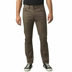 Prana Ulterior Pants Slim Stretch Organic Cotton Casual Outdoor Olive 33 34 Nwt