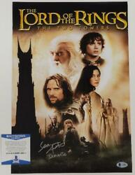 Sean Astin Signed Lotr The Two Towers Samwise 11x17 Movie Poster Photo Bas Coa