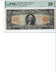 1906 20 Gold Certificate Fr1182 Pmg 20 Vfvernon/mcclung, High Quality
