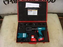 Burndy Cordless Hydraulic Cable Crimper With Many Dies 12v Works Great