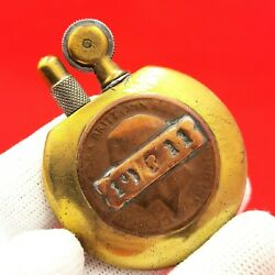 1910and039s - Rare Trench Art - Petrol - Lighter - Ww1 - Poilus - French Tax Badge