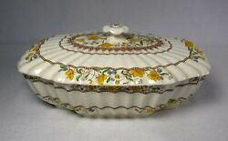 Spode China Buttercup Original Brown Backstamp Oval Covered Serving Bowl And Lid