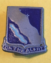 Rare Wwii Era, Us Army, Dui Crest, 398th Inf. Reg. Bct, Pinback, Theatre Made