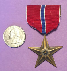 Rare Wwii Era Named Philippine Scout Marciano H. Hibipowus Bronze Star Medal